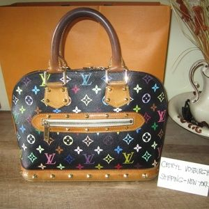Black Monogram Multicolor Alma Bag